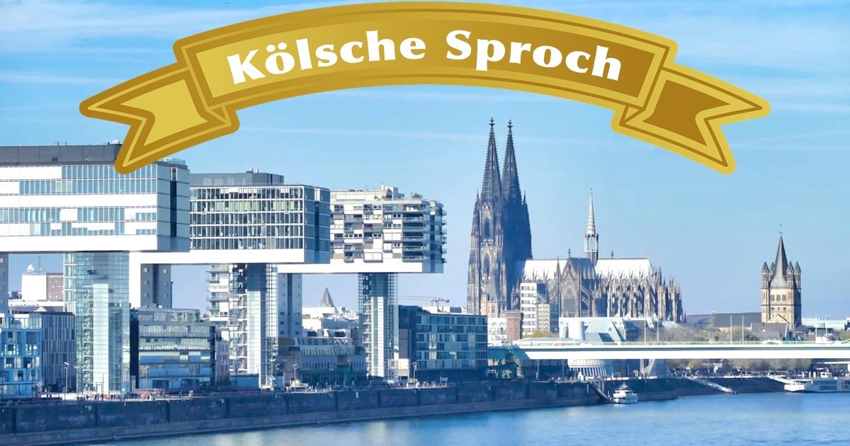Koelsch lernen Blick auf Köln